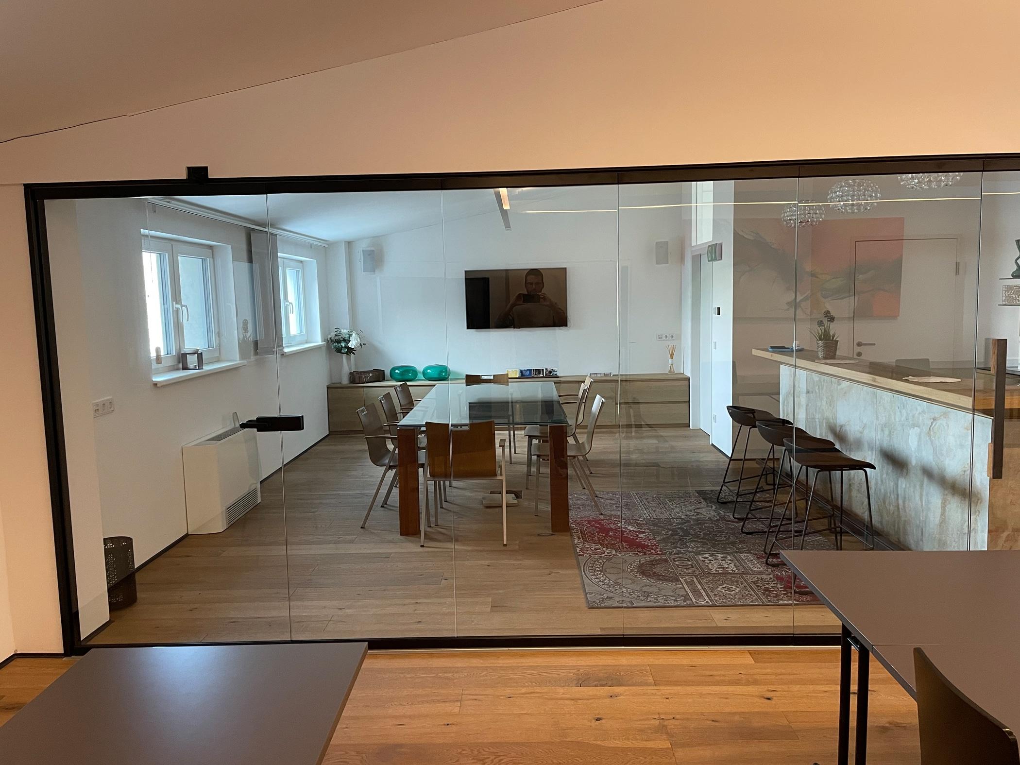 Falt Schiebetüren Glas Innenbereich