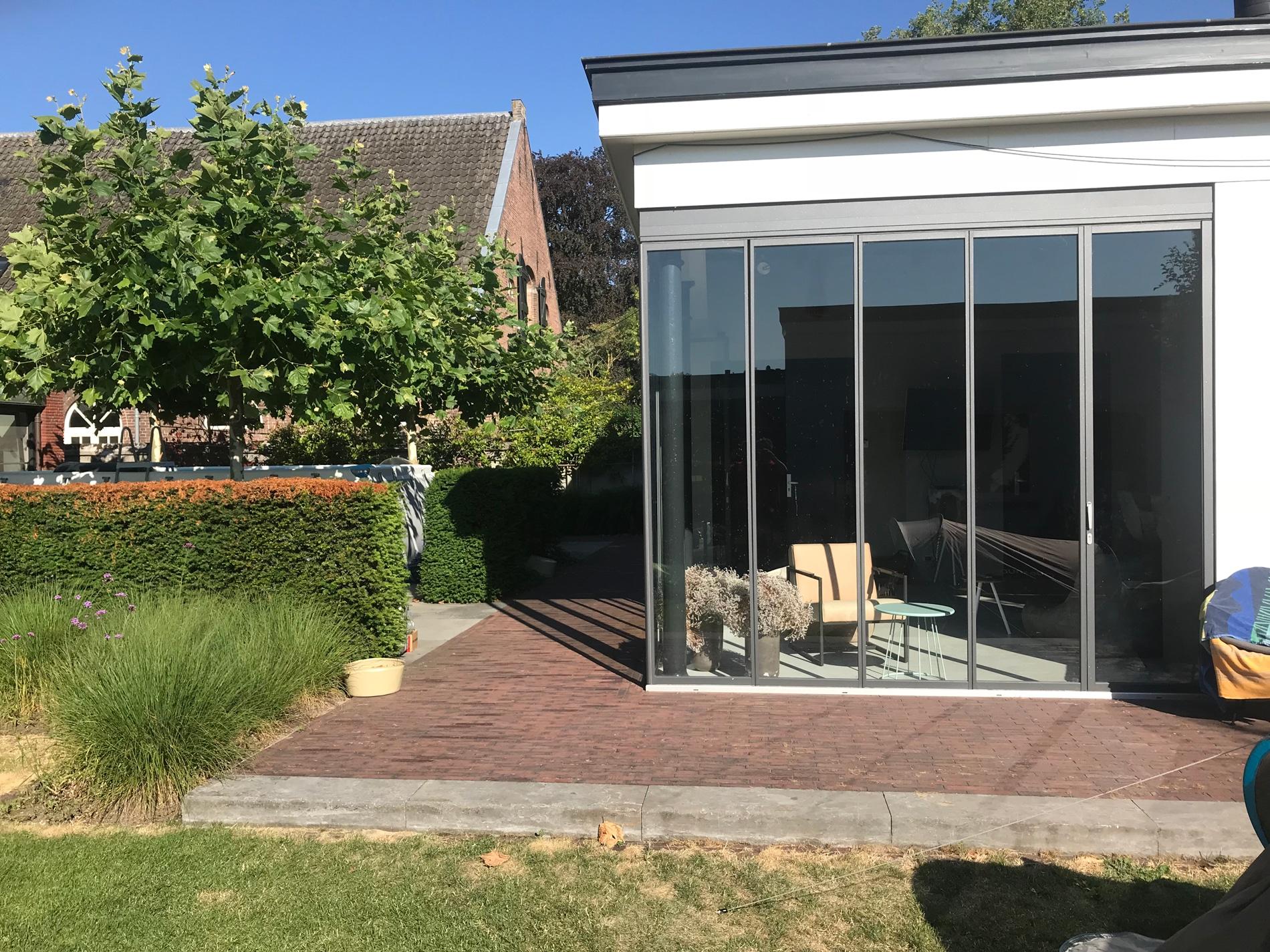 Faltbare Terrassenverglasung