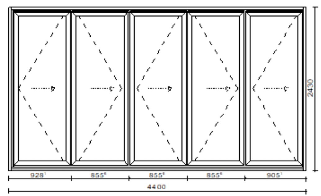 Faltschiebetüren Aluminium 5 Flügeln Preise