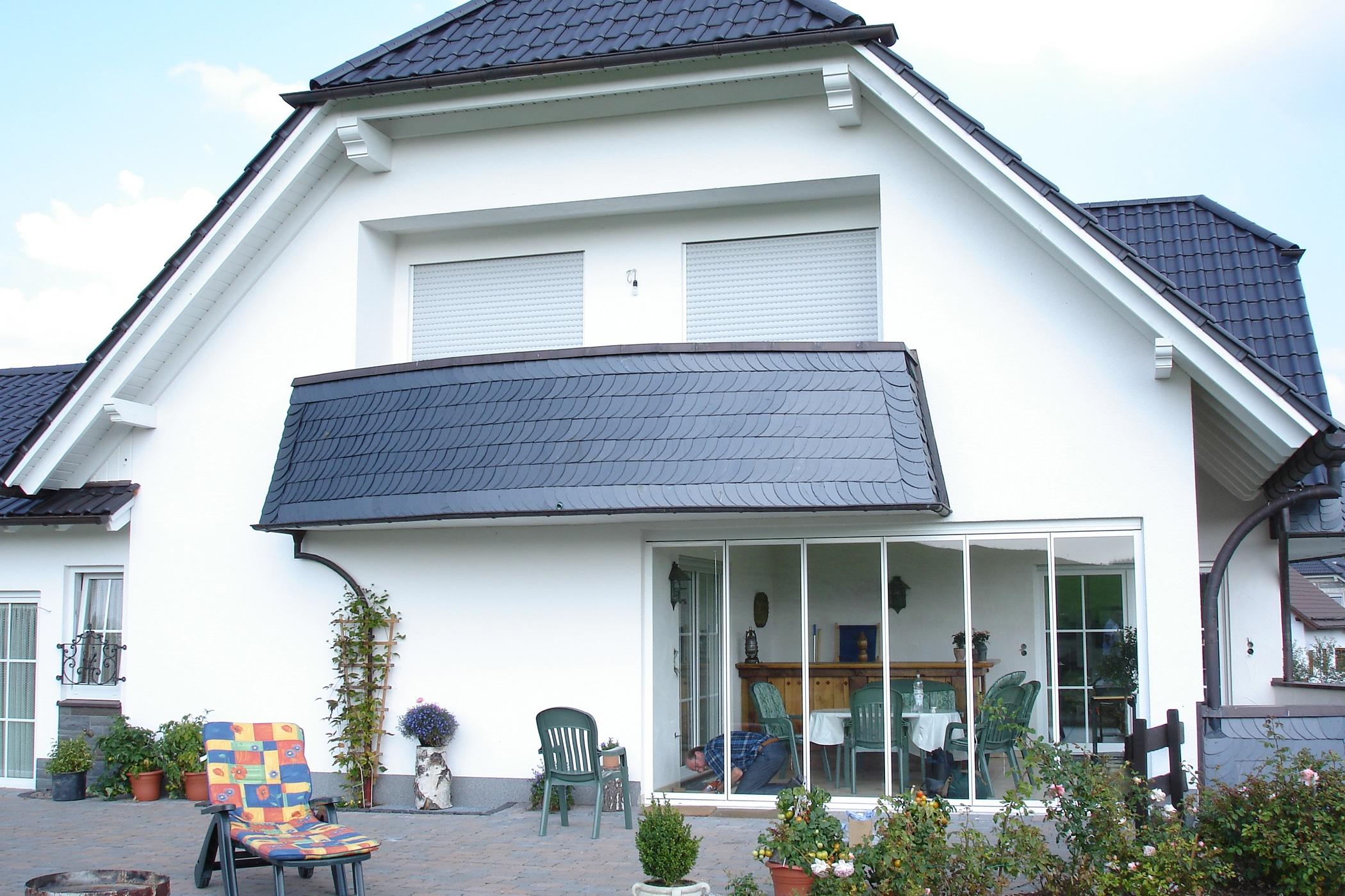 Faltschiebetüren Terrasse Windschutzideen