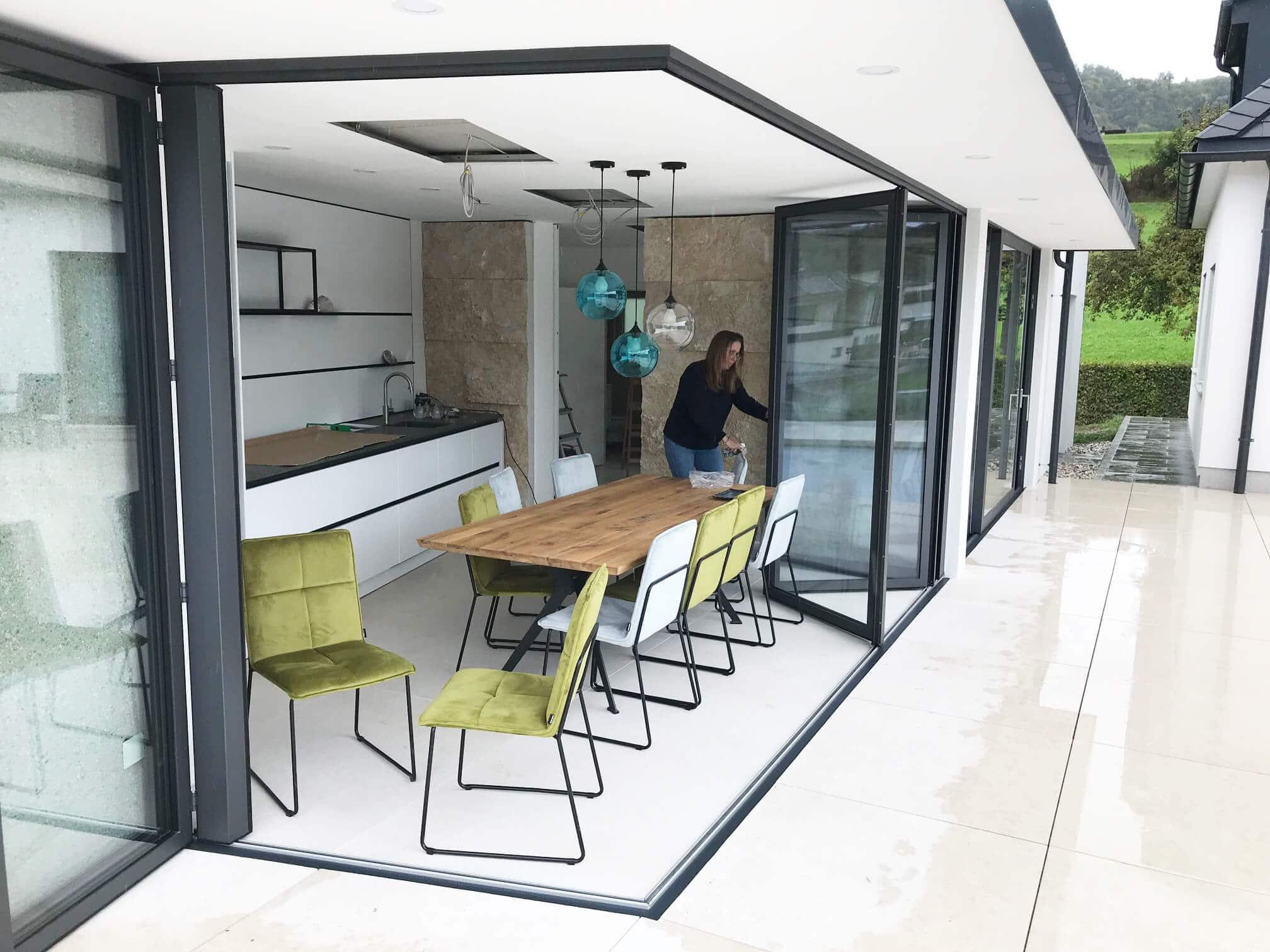 Faltsystem Alu wärmegedämmt für Poolhaus