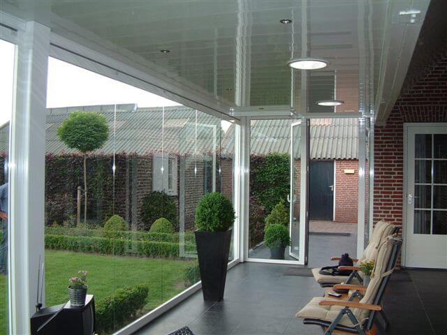 Faltwände Glas für Anbau Wintergarten
