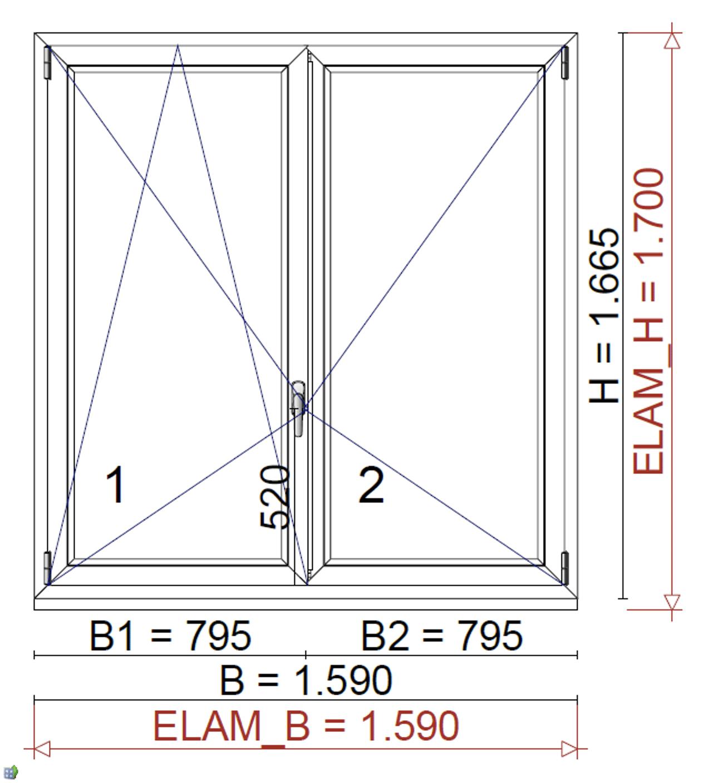 Fenster Doppelflügel für Projekt in Linz
