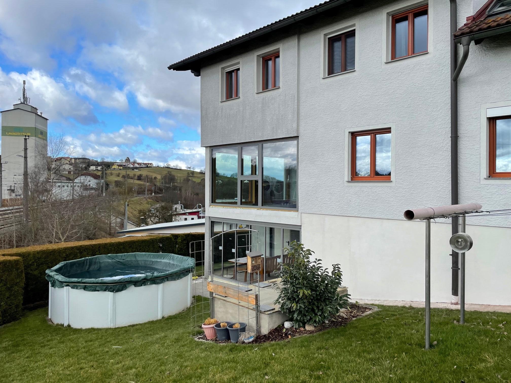 Fenster Holz Aluminium in grau für BV 4232 Hagenberg
