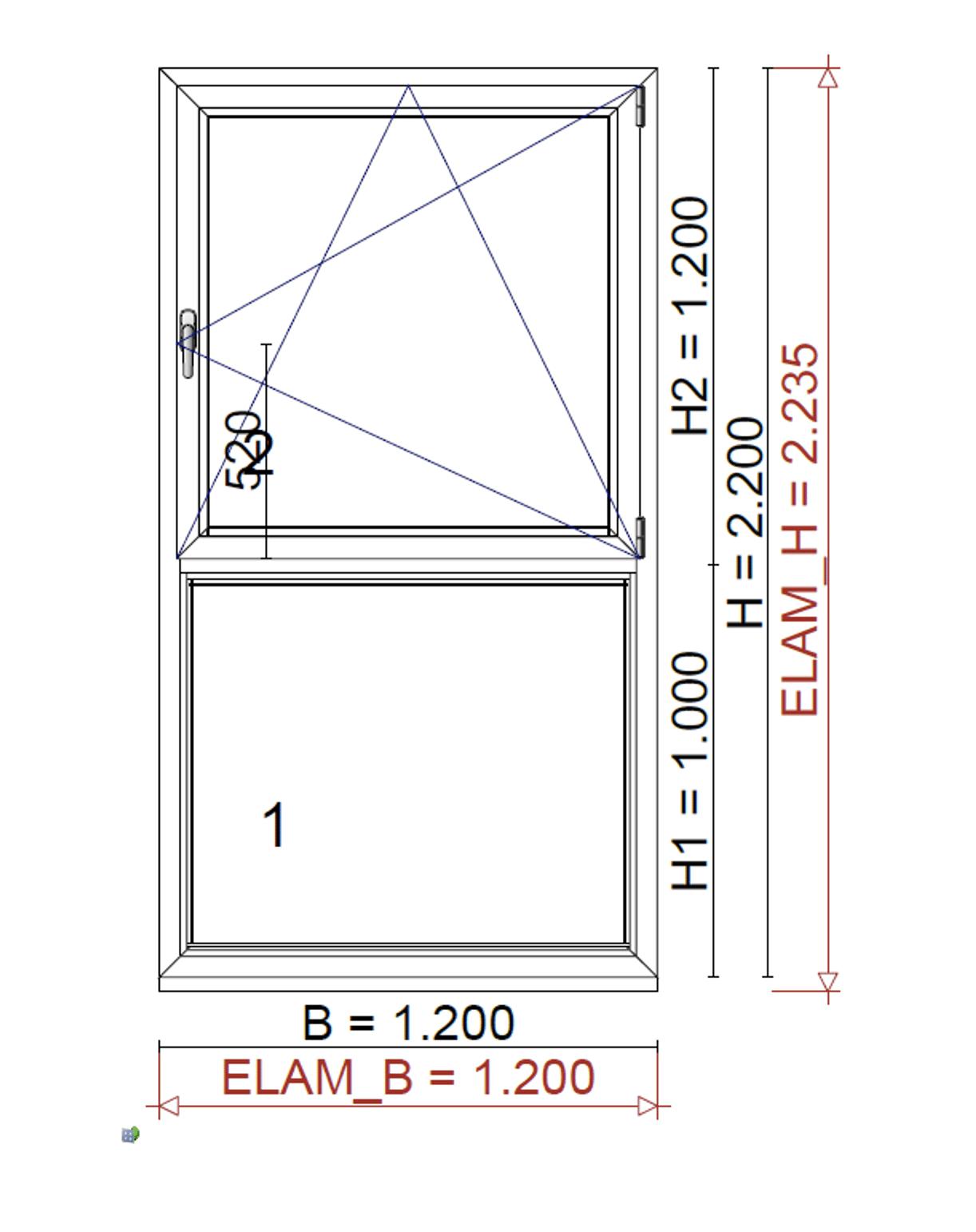 Fenster mit Unterlichte - Planung für BV in Wels