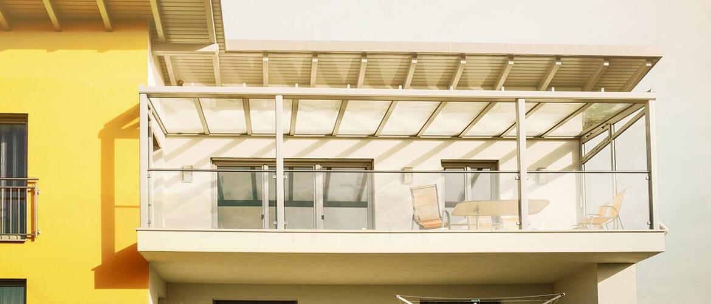 Balkonverglasung Überdachung