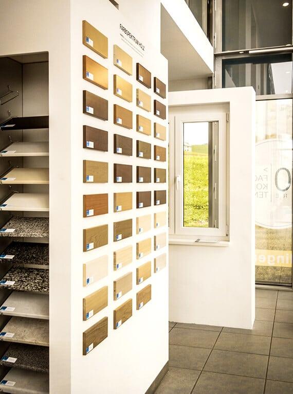 Beispielfarben für Holzfenster