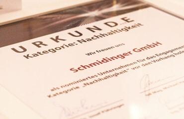 Fenster-Schmidinger ist ausgezeichnet