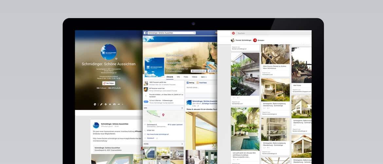Social-Media Auftritt von Fenster Schmidinger