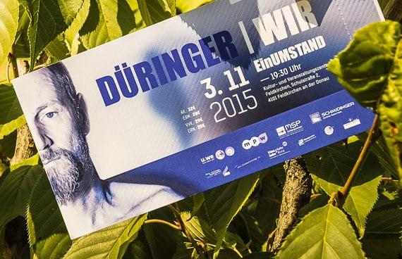Einladungskarte Düringer