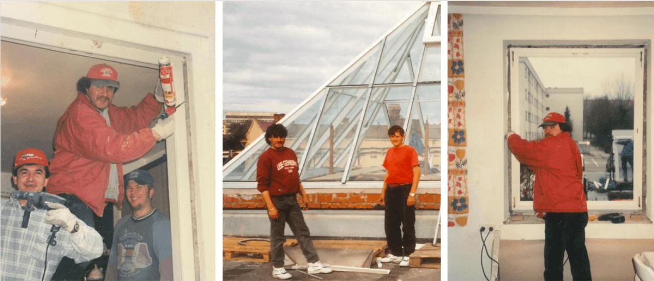 Jubiläum Fenster-Schmidinger - Fenstermontage
