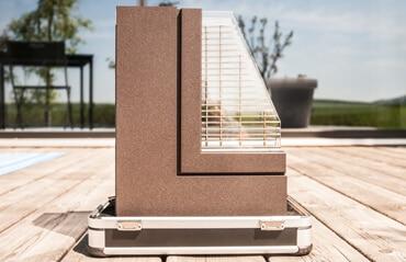 Holzalu-Fenster Schauraum