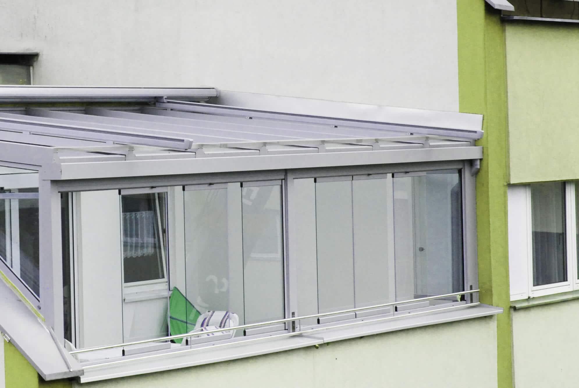 Ganzglas Schiebe-Dreh-System