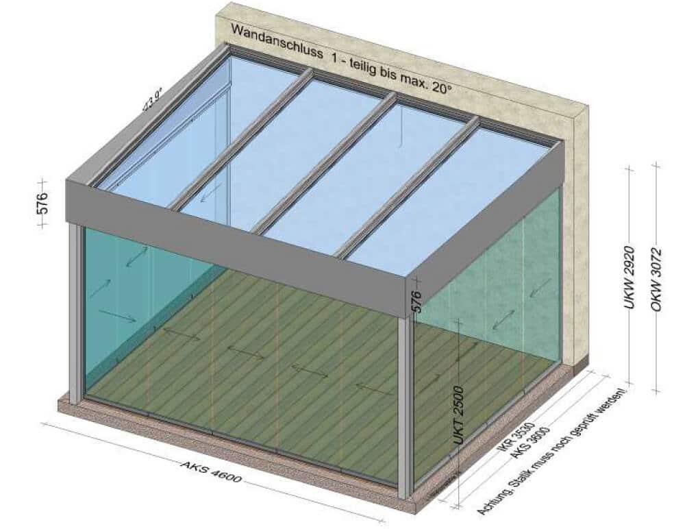 Ganzglas System Sommergarten