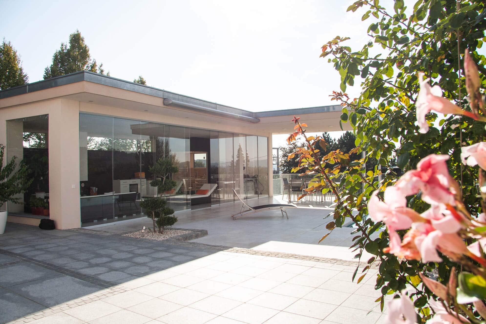 Ganzglas-Systeme Terrasse