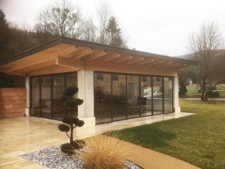 Gartenhaus modern mit Schiebetüren - Österreich