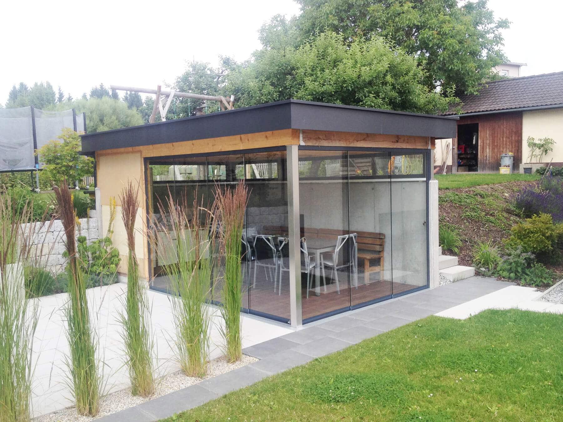 Projekte von fenster t ren und winterg rten aus ganz for Gartenlaube modern einrichten