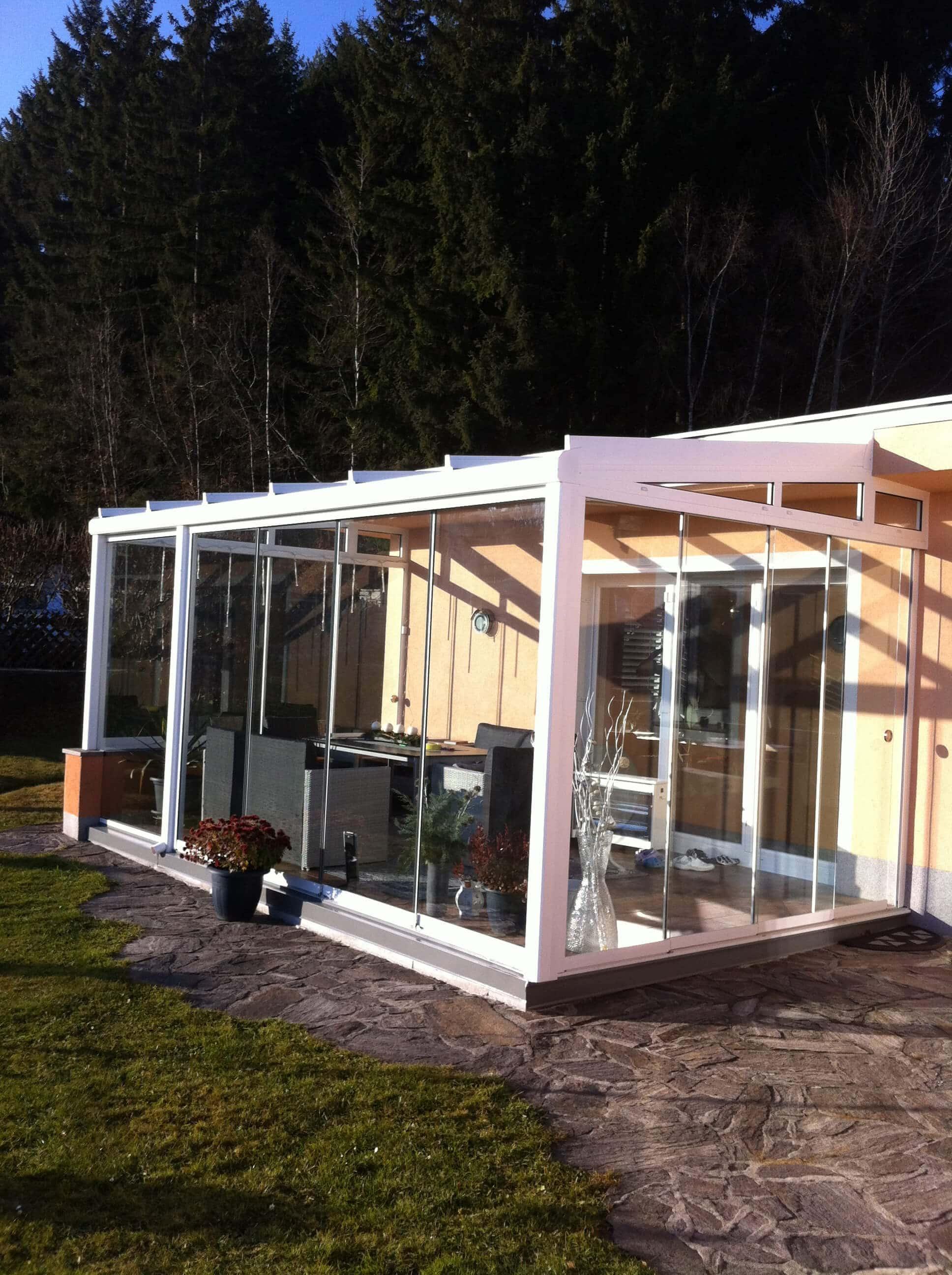 Glas Faltelemente Wintergarten