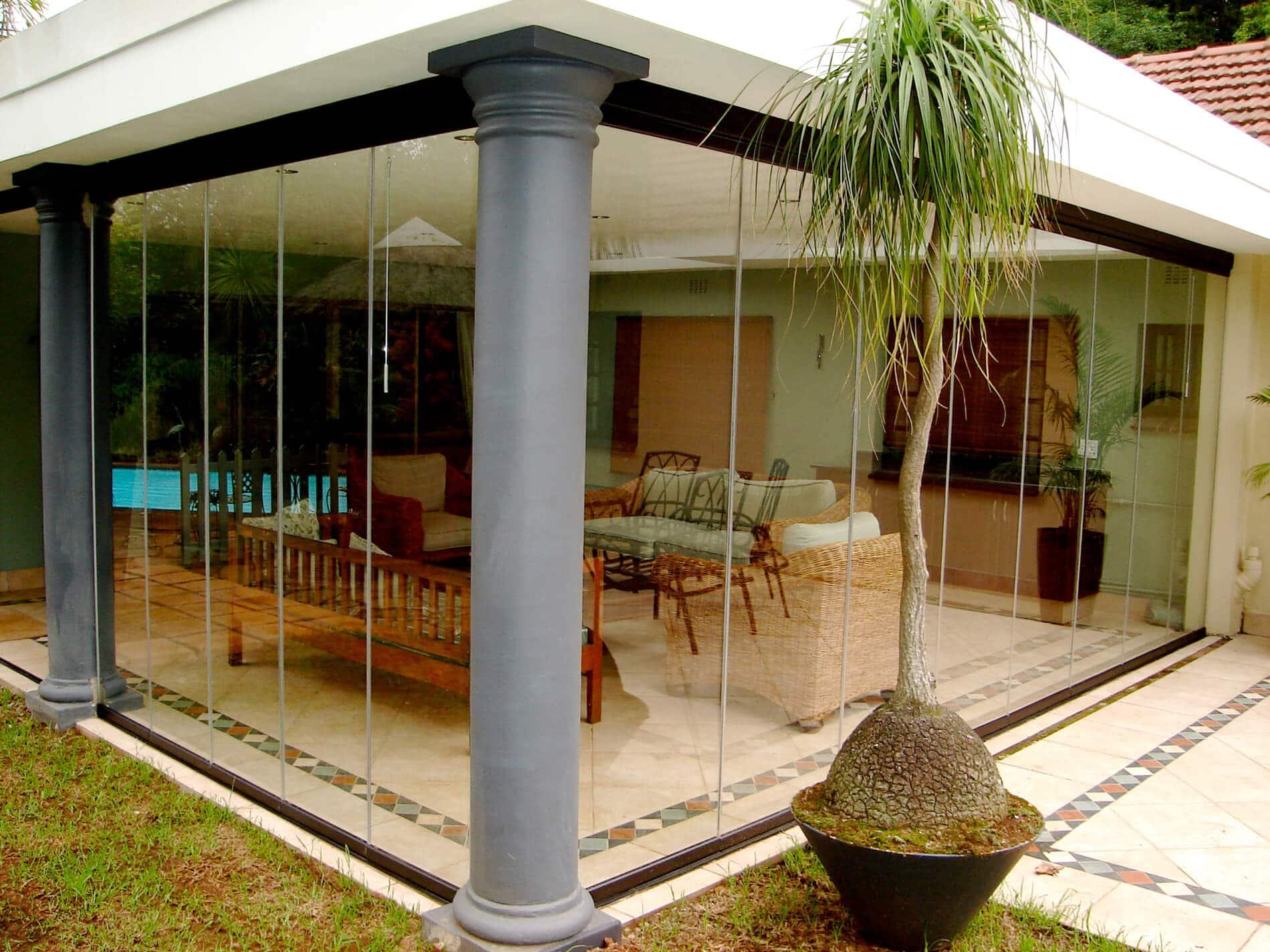 Glas Faltwände für Wintergärten / Sommergärten