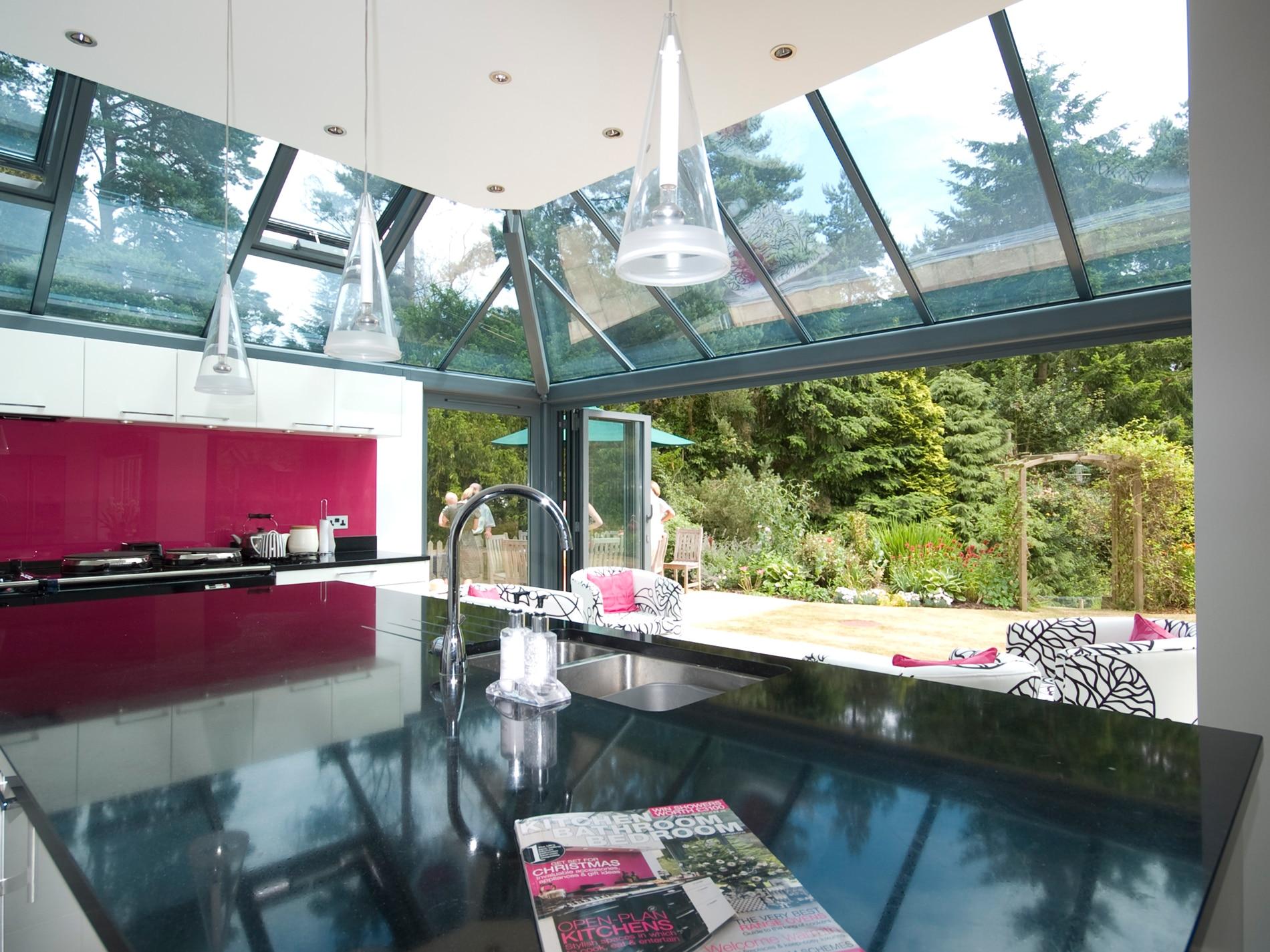 Glas Faltwände nach Maß für Wintergarten