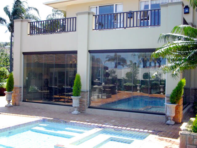 Glas-Faltwände Terrasse