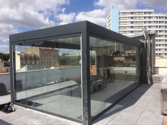 Glas Schiebe Drehtüren für freistehenden Sommergarten