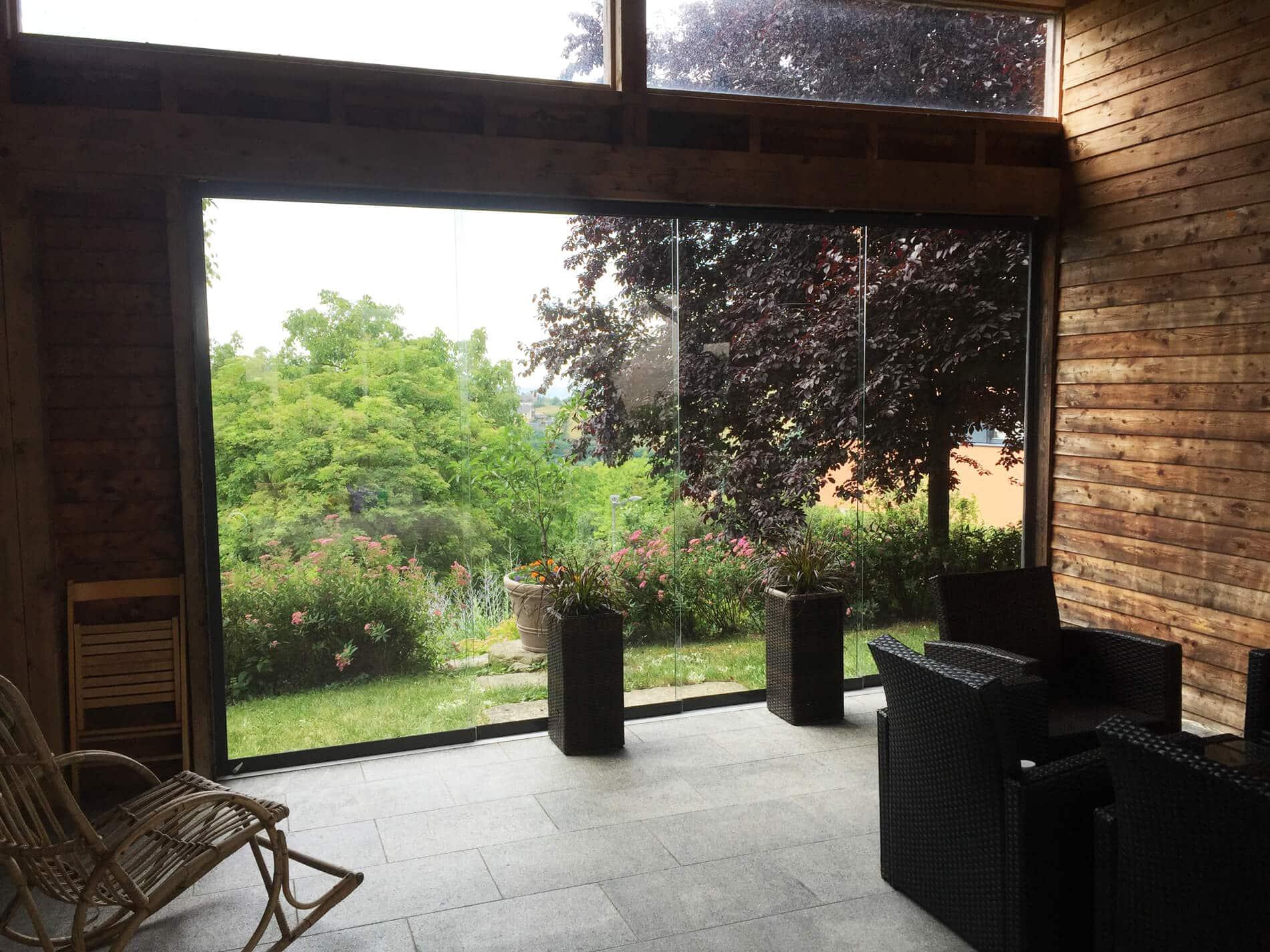 Glas Schiebe System Terrasse