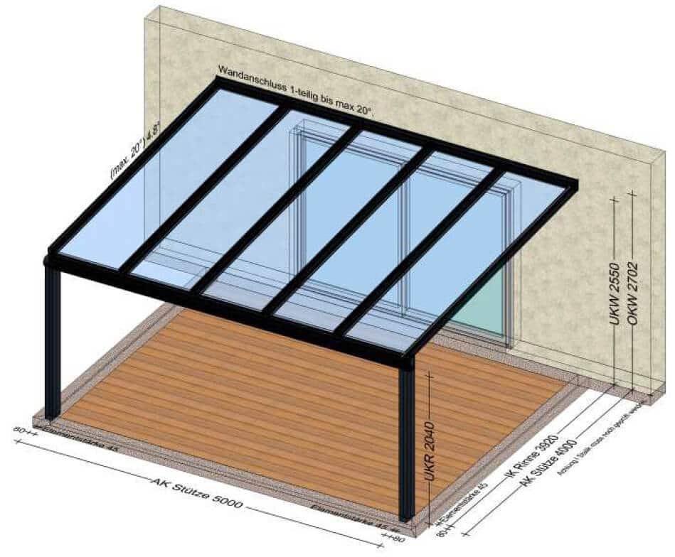 Glas Terrassenüberdachungen