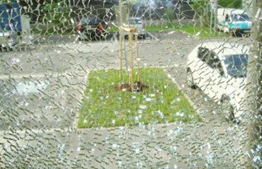 Glasbruch Fenster