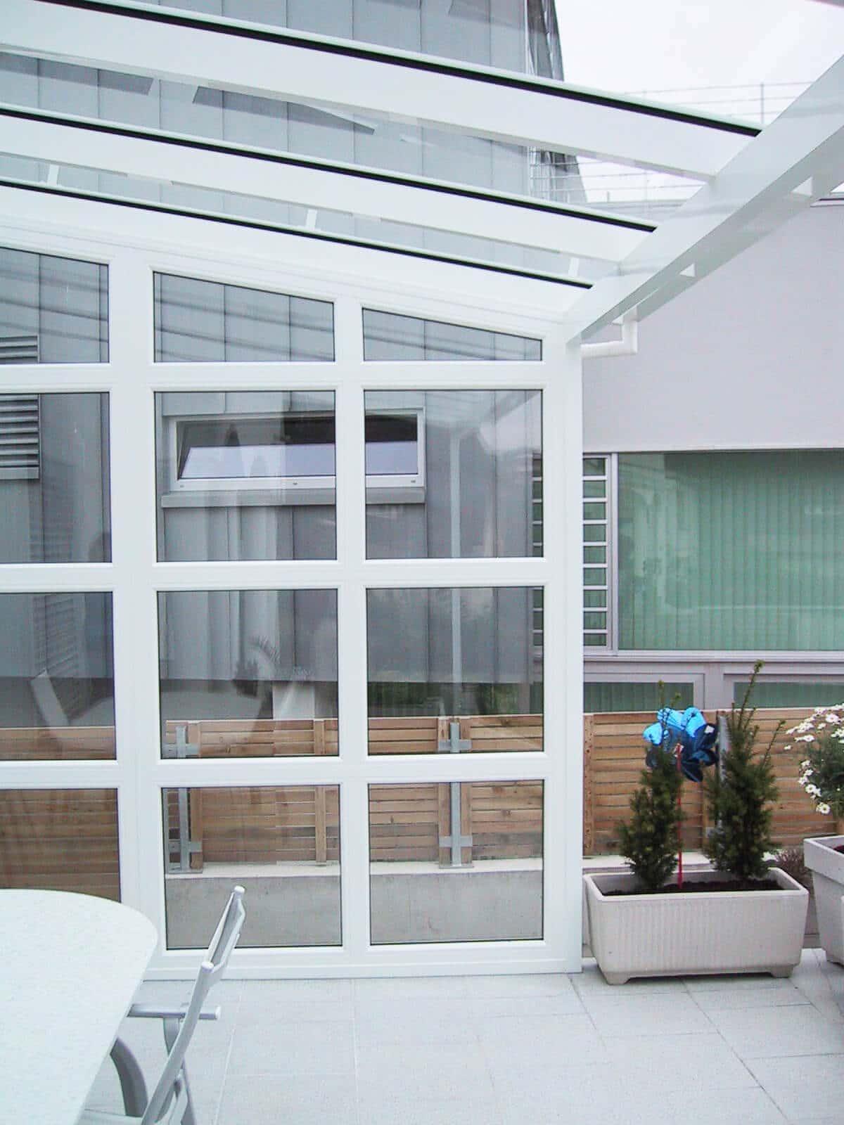 Glasdach für Terrasse