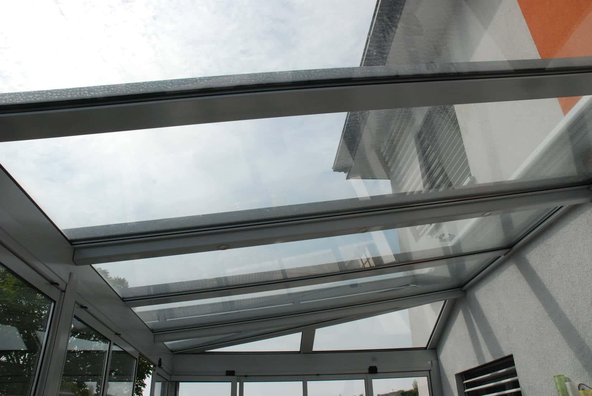 Glasdach Wintergarten Aluminium