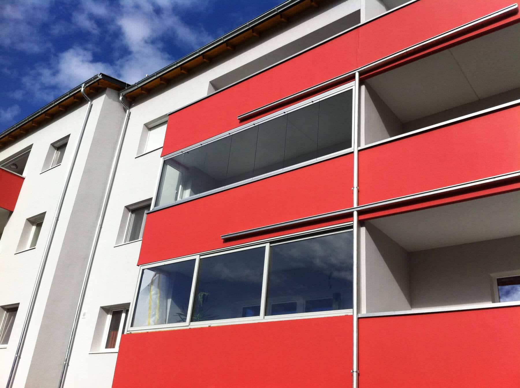 Glasfaltsystem für Balkon