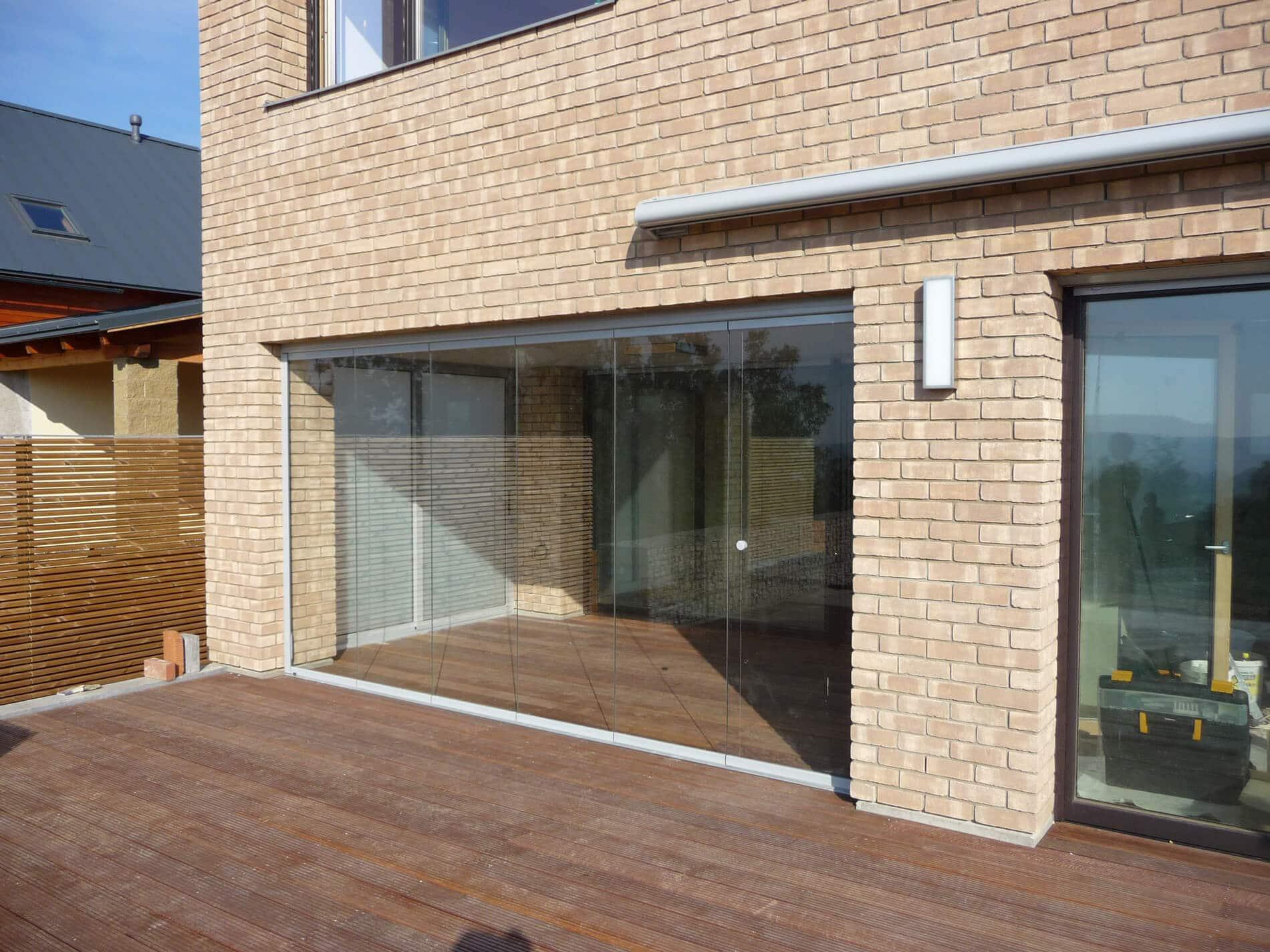 Glasfalttüren rahmenlos Terrassen