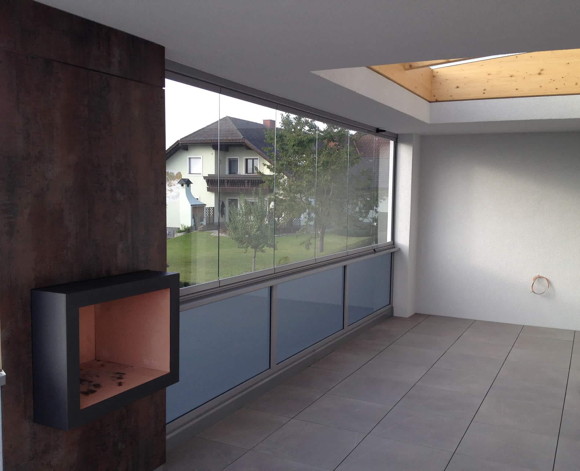 Glasfaltwand System
