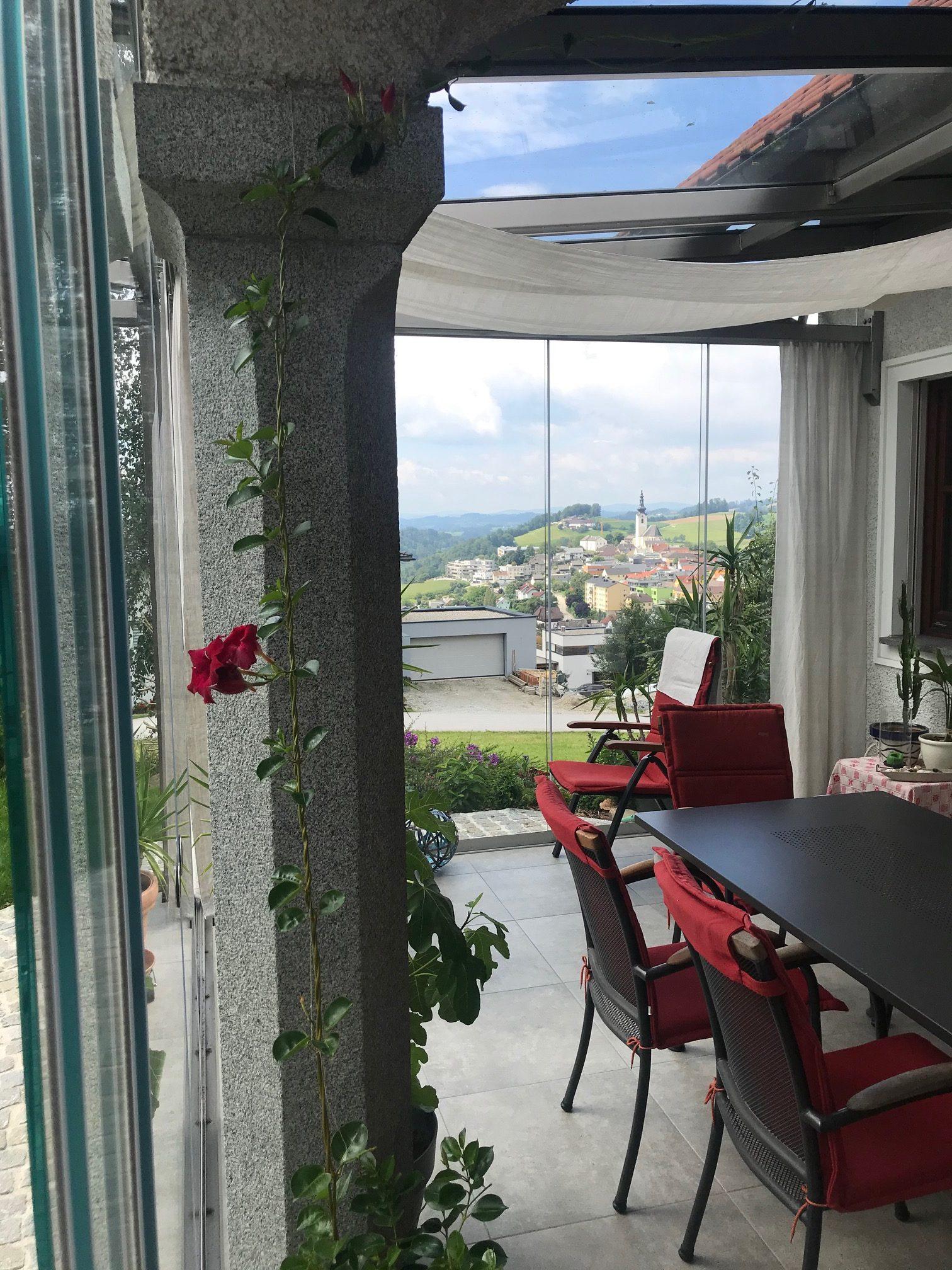 Glasschiebeelemente für Terrasse - Aussenbereich