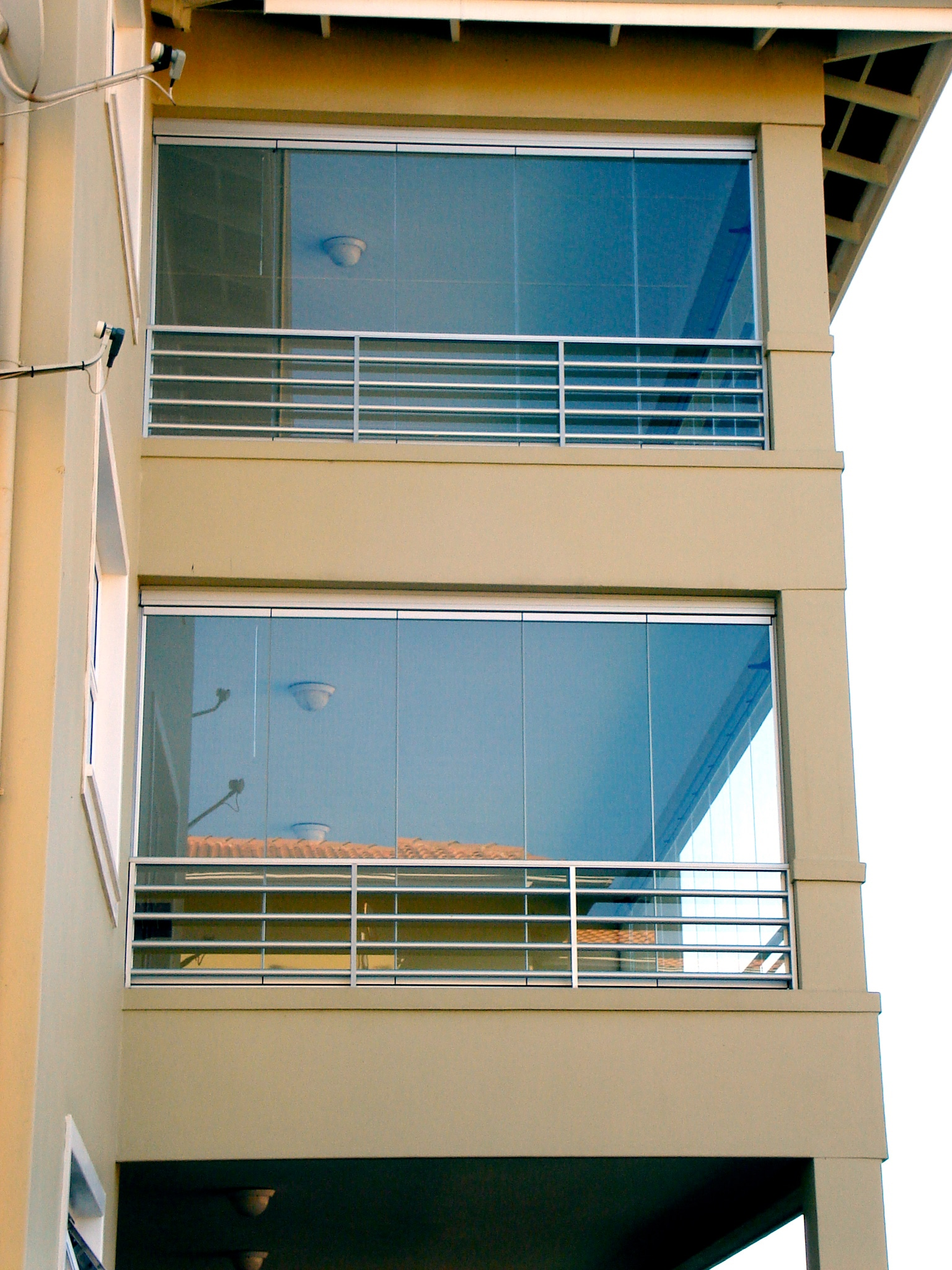 Glasschiebefront Balkone