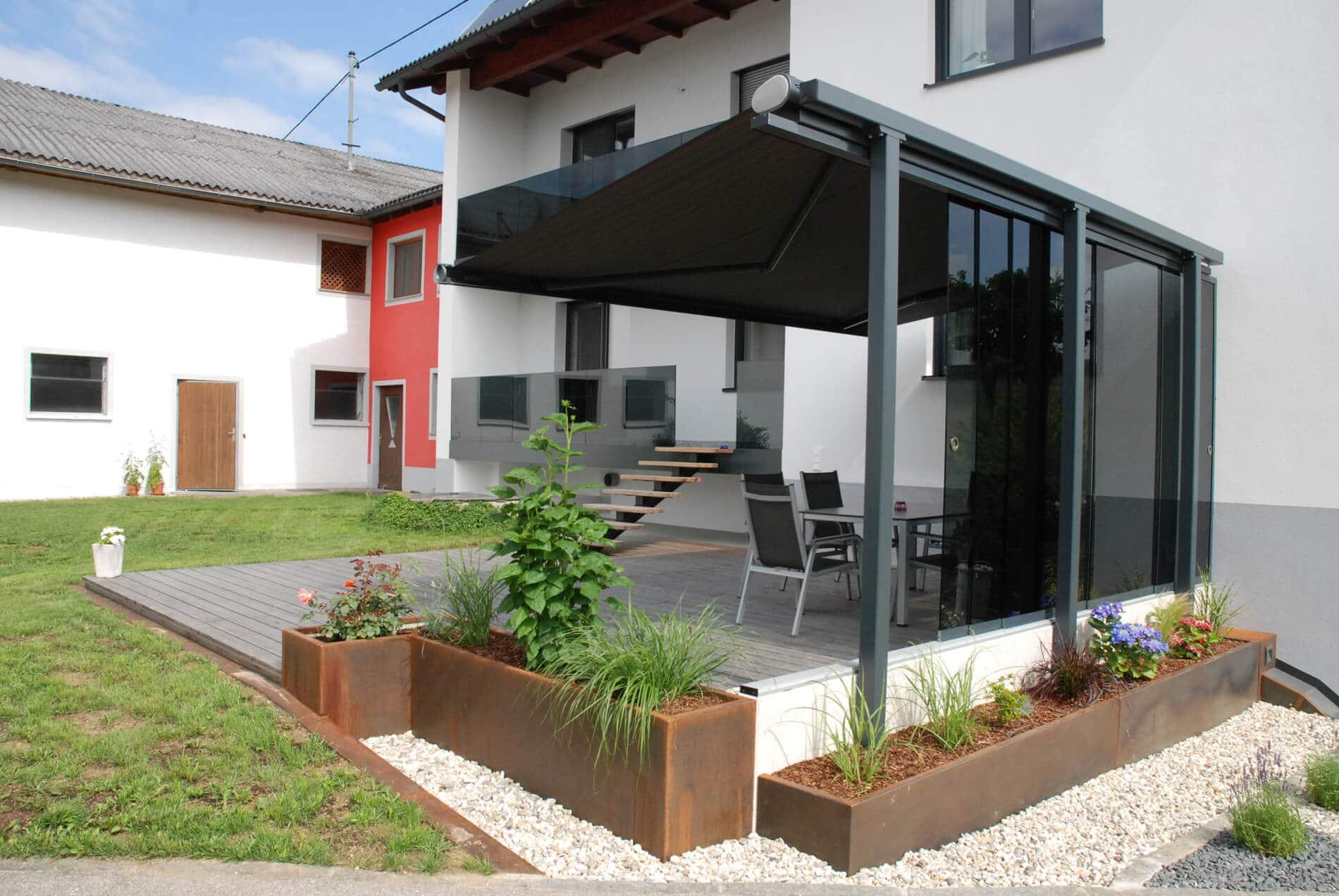 Glasschiebesystem für Terrassen