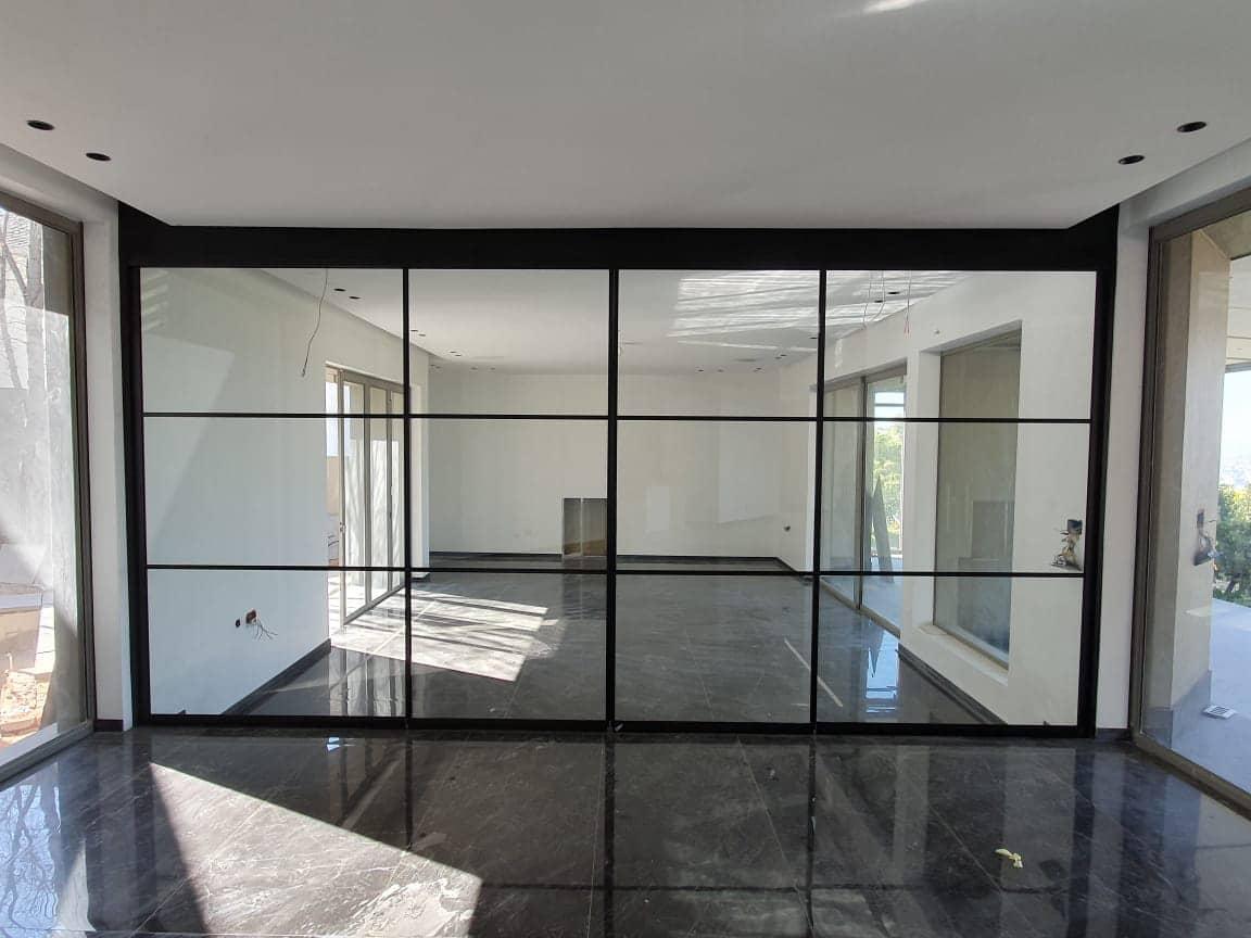 Glasschiebetür Komplettset im Loft Style