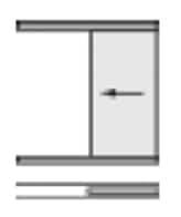 Glasschiebetüre 1-flügelig