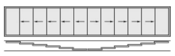 Glasschiebetüre 12-flügelig