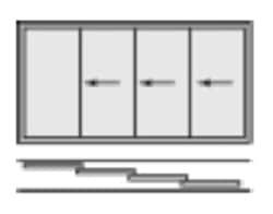Glasschiebetüre 4-flügelig
