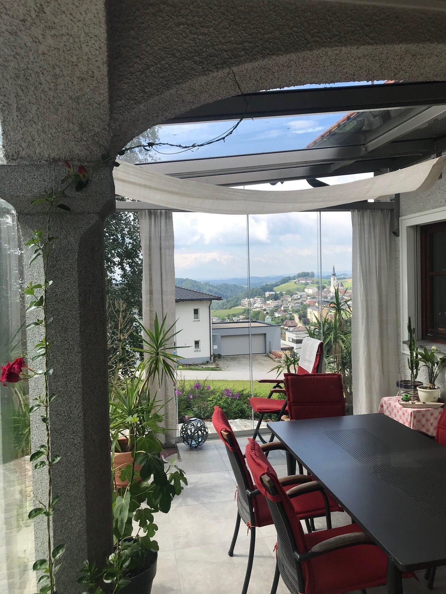 Glasschiebetüre 4-teilig für Wintergarten