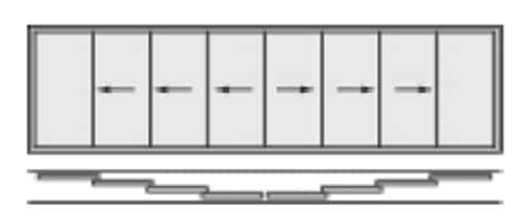Glasschiebetüre 8-flügelig