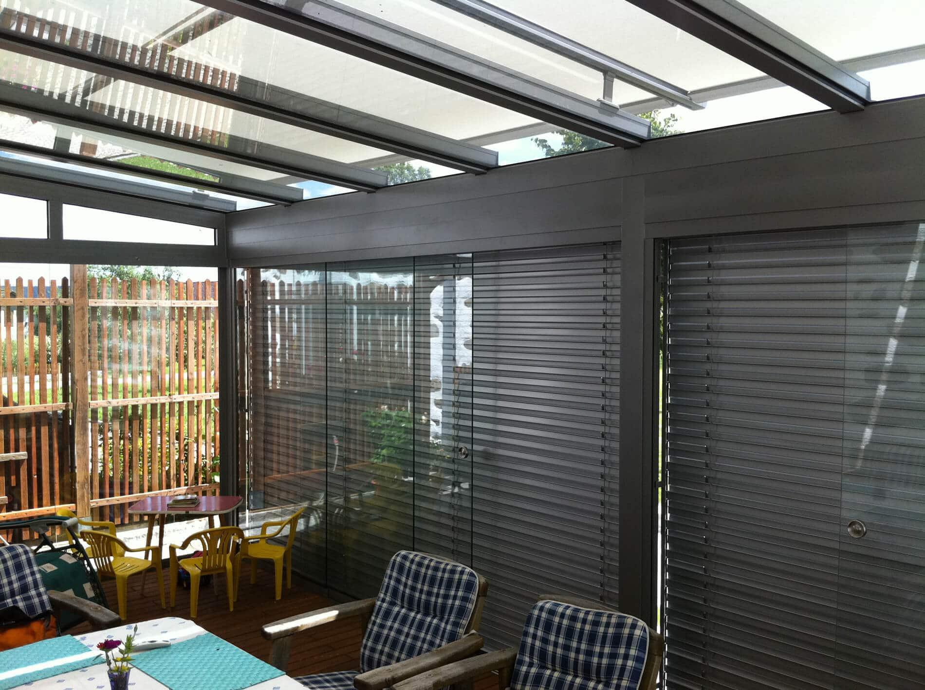 Glasschiebetüren außen für Wintergarten