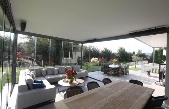 Glasschiebetüren für Anbau Terrasse