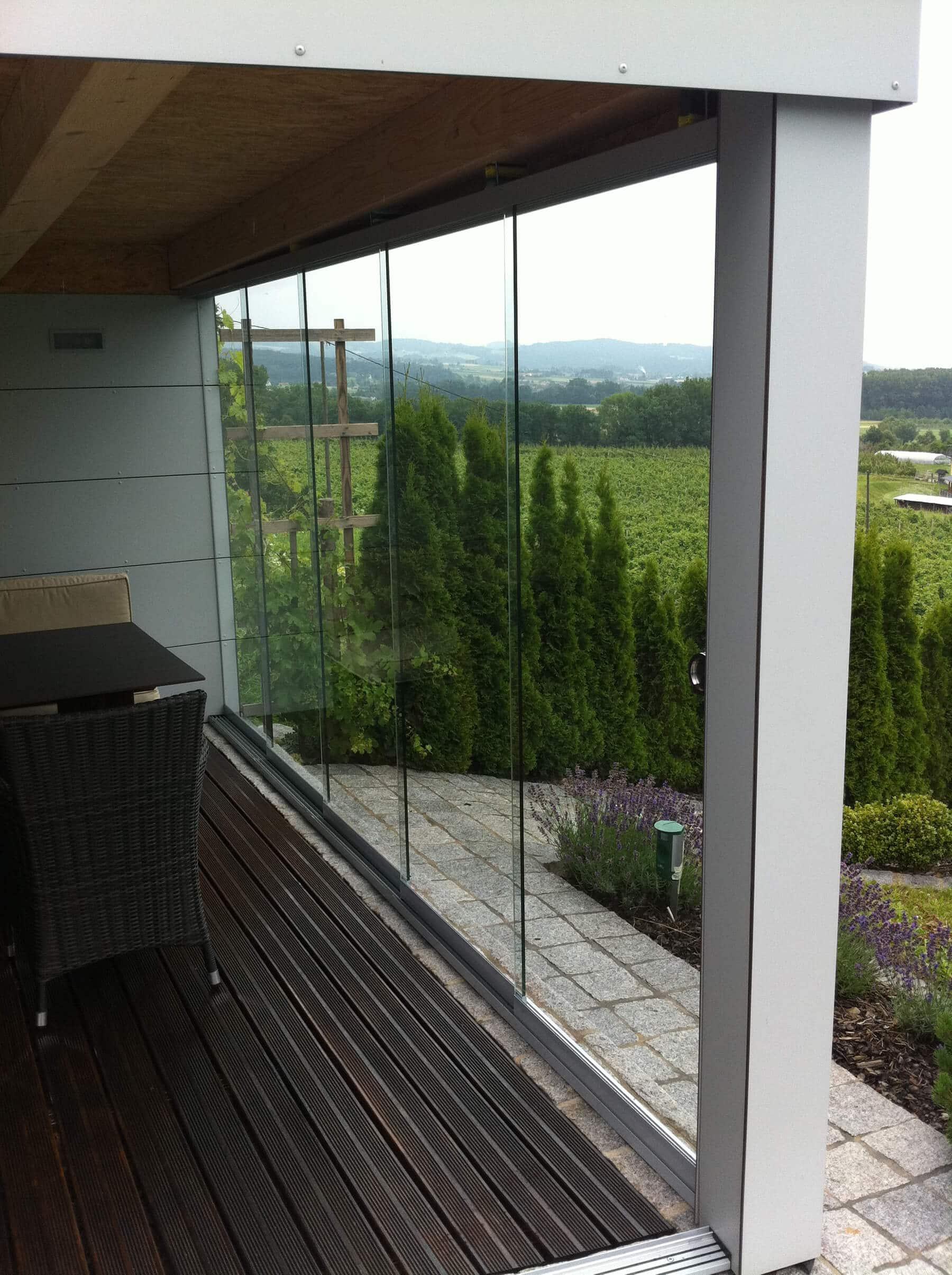 Glasschiebetüren für Gartenhäuser
