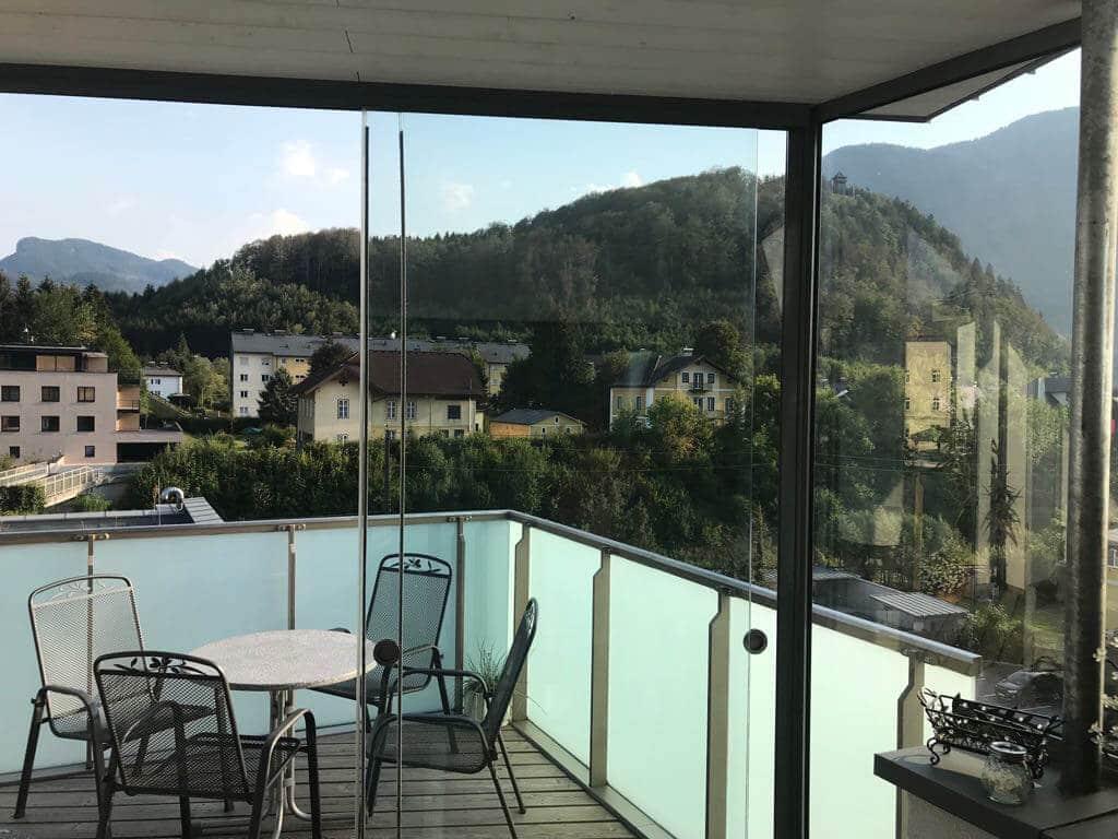 Glasschiebetüren für Terrasse Wetterschutz