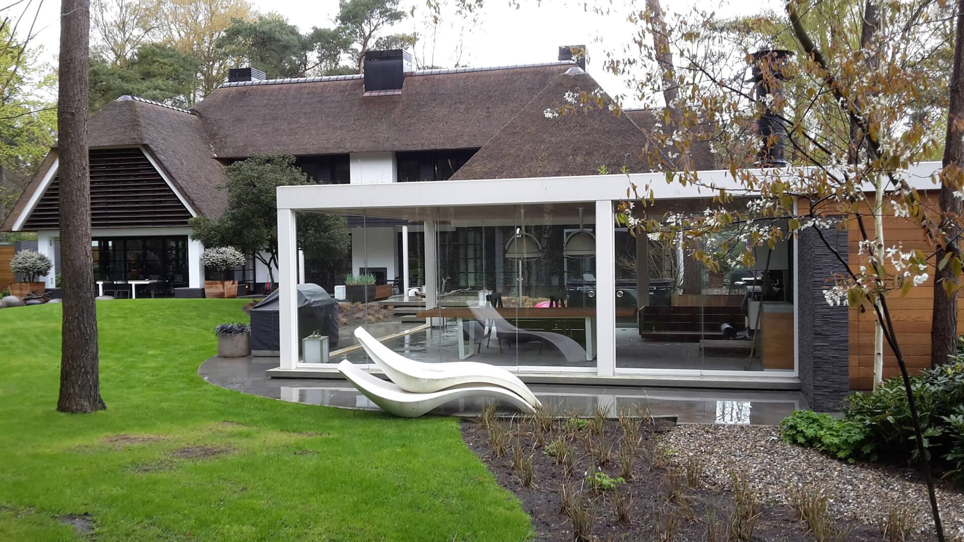 Glasschiebetüren Wintergarten Anbau
