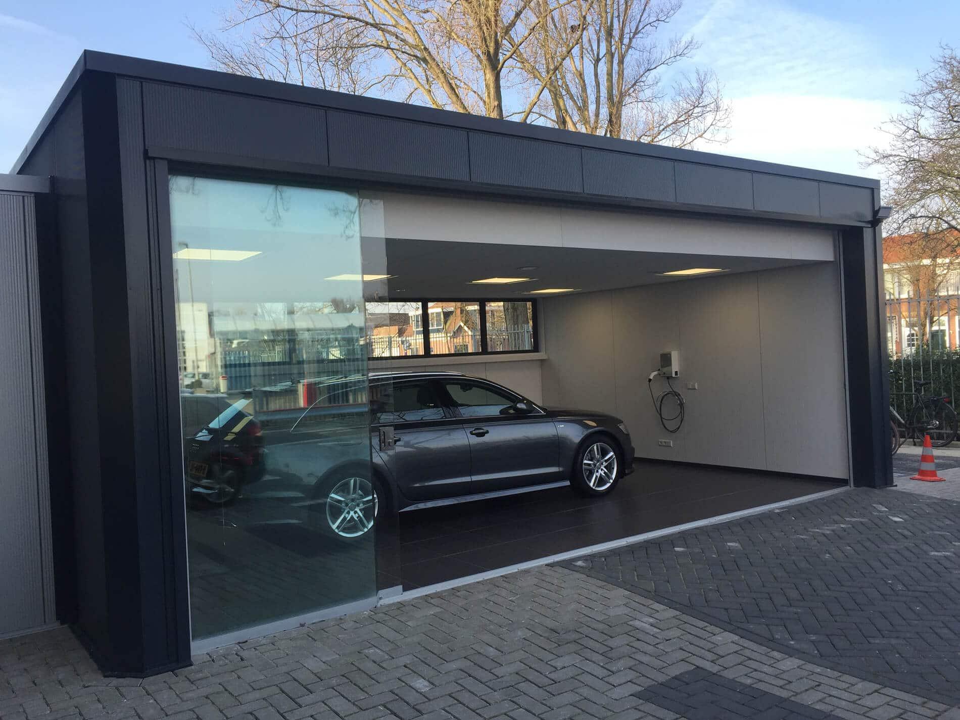 Glasschiebewand für Autogarage - Referenzen