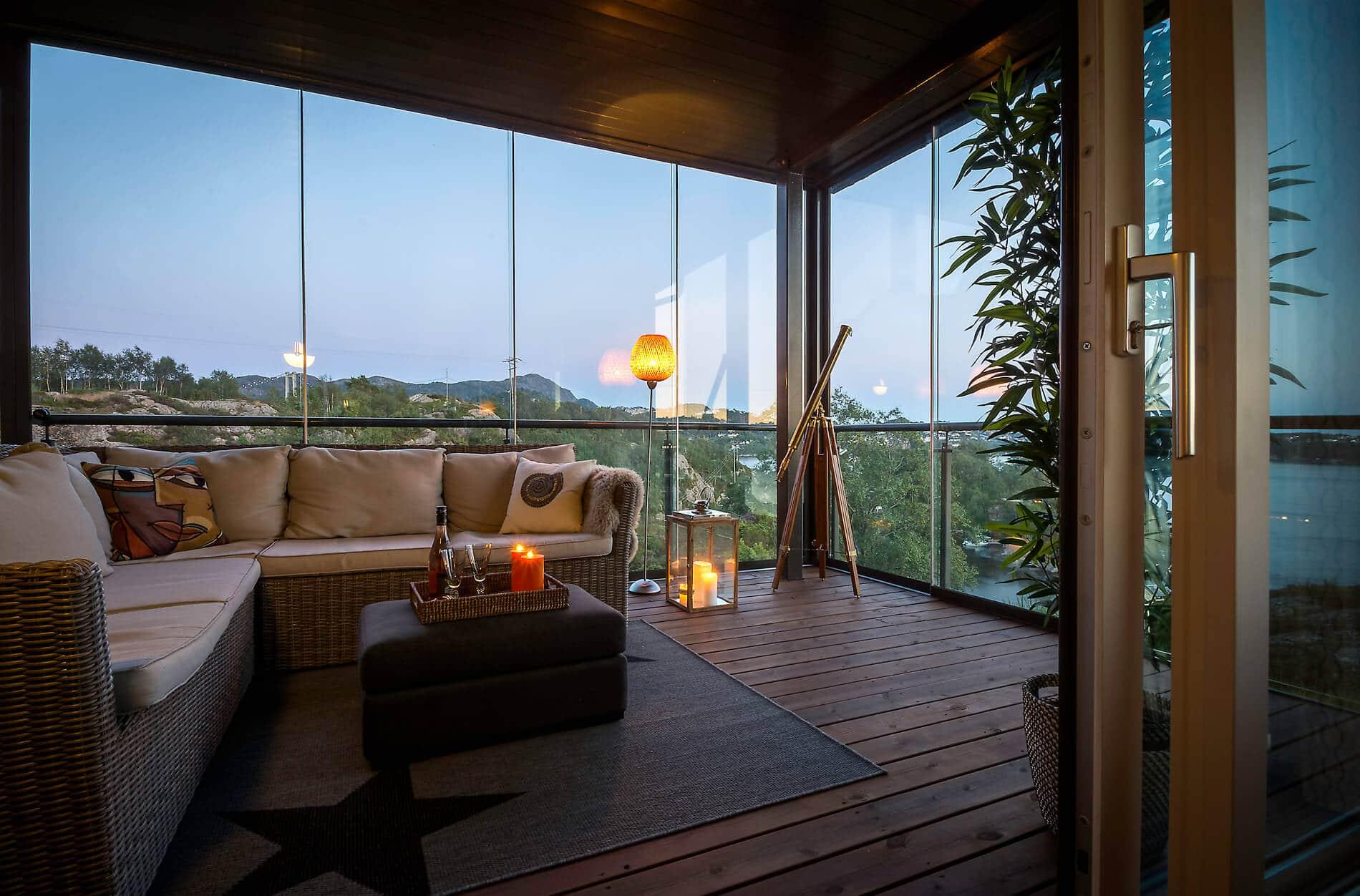 Glasschiebewand für bestehende Terrassenüberdachung